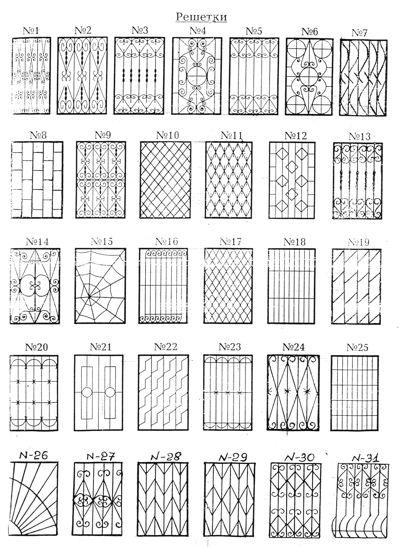 Решетки на окна своими руками эскизы